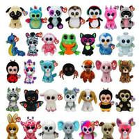 große puppen zum verkauf großhandel-50 stücke Ty Beanie Boos Plüschtiere Große Augen Tiere Weiche Puppen für Kinder Geburtstagsgeschenke Heißer Verkauf GB040