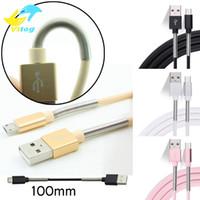 yay veri kablosu toptan satış-Bahar koruyun 1 M Mikro USB C Tipi Kablo Şarj Port Data Sync 2A Hızlı Şarj Bahar Koruyucu i7 Samsung Android Için s8 s8 artı