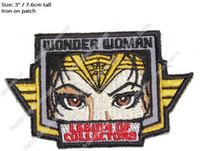 Wholesale wonder woman movie costume for sale - 3 quot Wonder Woman D C DC COMICS COLLECTOR Iron On PATCHES TV Movie Series Cosplay badge for clothes Costume Supplies