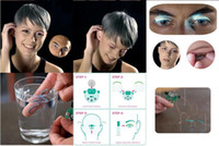 Wholesale Halloween Feather Lashes - LED Eyelashes Lashes Interactive LED Eyelashes Fashion Glowing Eyelashes Waterproof for Dance Concert Christmas Halloween Nightclub Party