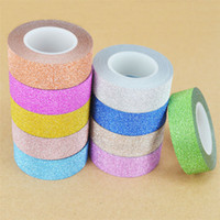 Wholesale Decorative Sticky Tape - 10M Glitter Sticky Paper Masking Adhesive Tape Label DIY Craft Decorative