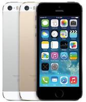 elma telefon kilidini açma toptan satış-Yenilenmiş Orijinal Apple iPhone 5 S Dokunmatik KIMLIK Unlocked Ile Cep Telefonu iOS 8 4.0