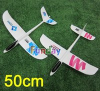 Wholesale Outdoor Hand Launched Glider - Wholesale-EPO Glider Hand Launch Foam Paper Planes Airplane Model Kids Adult Toys Outdoor Sport Aeromodel Flying Arrow Best Gift for Boys
