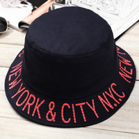 Wholesale Wholesale Church Hats New York - bucket hats beanie new york yankee cap cotton letter hat for unisex men and women fashion caps