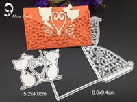 Wholesale Marriage Card Decoration - Metal cutting dies cat lover marriage lace wing Scrapbook card paper craft home wedding party decoration embossing stencil punch