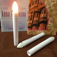 Wholesale Novelty Candle Light - LED Long Pole Candle Light Flashing Candles Light Lamp Table Lamp Novelty Candle Light Battery Operated LED Flickering Candle Christmas Gift