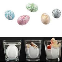 Wholesale Metal Suspension - Novel Water Hatching Inflation Dinosaur Egg Watercolor Cracks Grow Egg Educational Toys (color send by random)