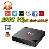 Wholesale Cheapest 3d Movies - Cheapest M9S V5 Android6. 0 TV Box Rockchip RK3229 Smart Boxes 4K Quad core 17.3 version Full Loaded support 3D Free Movies Online Mini PC