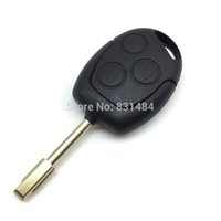 Wholesale Ford Focus Remote Key Shell - 3 Buttons Blade Uncut Remote Car Key Shell Case Fob Covers For Ford Focus Mondeo Festiva Fusion Suit Fiesta KA