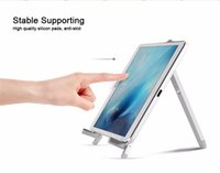 Wholesale Triangle Brackets - Aluminum Desk Stand Holder Adjustable Foldable Triangle Mobile Flexible Tablet Mount Bracket for ipad air2,ipod pro9.7 Samsung