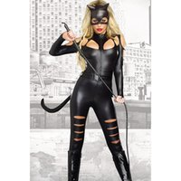 Wholesale Fighting Cat - 2017 Christmas Europe and the United States fashion new Halloween black long-sleeved sexy cat female fight piece suit tights