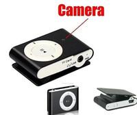 grabadora de video azul musica al por mayor-Clip Mini DVR Reproductor de música MP3 Cámara Mini Videocámara Cámara del cuerpo Video digital Audio Recorder portátil Mini DV Azul / Negro Envío de la gota