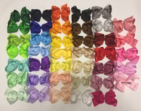 Wholesale Large Rhinestone Hair Barrettes - 8inch 6inch Large Grosgrain Ribbon Boutique rhinestone Hair Bow With Clip For Baby Children hair Barrettes Bow Hair Accessories 8 Style