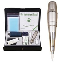 Wholesale Tattooing Guns High Powered - High quality Permanent Make Up Tattoo Machine Pen For Eyebrows Forever Make Up Microblading Tattoo Kit With Needles Ink Power Supply