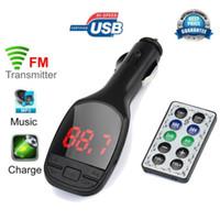 araba mp3 usb sd mmc toptan satış-Yeni Varış Kablosuz MP3 Çalar Oto FM Verici Modülatör LCD Araç Kiti USB Şarj SD MMC Uzaktan mr31