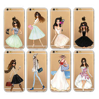Wholesale Iphone 5s Pictures - Lovely Girls Phone Case for iphone 6 6s 5 5S SE 7 7 Plus Cover with retail bag package DHL free shipping Shopping Taking Pictures Dancing