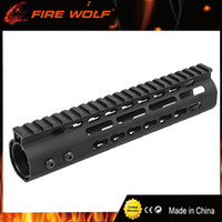 "Wholesale Rail Float - FIRE WOLF 9"" Inch Free Float NSK AR15 Super Slim Handguard Top Rail KeyMod System FDE BK For AR-15 M4 M16"