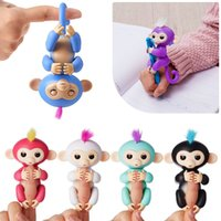 Wholesale Electronic Party - 6 colors Pre-sale retail Fingerlings - Interactive Baby Monkey Finger Toys Monkey Electronic Smart Fingers Monkey ABS+PVC 130mm YYA503