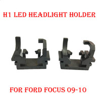 Wholesale H1 Headlight Socket - 2PCS H1 LED Headlight Conversion Kit Bulb Base Holder Adapter Retainer Socket Clip For Ford Focus 2009-2010 HID Xenon Halogen Lamp Converter