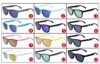 Wholesale Cheap Wholesale Women Coats - SUMMER brand new man outdoors sport sunglasses Bicycle Glass 12colors cheap price uv sun glasses for woman reflective coating sun glass