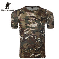 Wholesale Tight Cotton Mens Wholesale - Camouflage T-Shirt Quick Dry Breathable Tights Army Tactical T-shirt Mens Compression T Shirt Fitness Summer Bodybulding