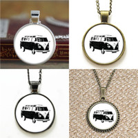 Wholesale Music Pendant Necklaces - 10pcs Vintage Car Van Retro Motor Music Necklace keyring bookmark cufflink earring bracelet