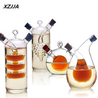 Wholesale Wholesale Glass Spice Jar - Wholesale- High temperature spice bottle Oil and vinegar galss bottle sauce glass jar sealed seasoning glass storage wine bottles for bar