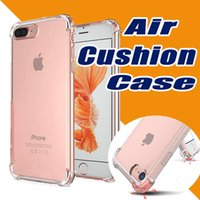 Wholesale Rubber Iphone 5s Covers Clear - Air Cushion Shockproof Clear Soft Silicone TPU Anti Knock Transparent Crystal Rubber Full Protective Cover Case For iPhone 7 Plus 6S SE 5S