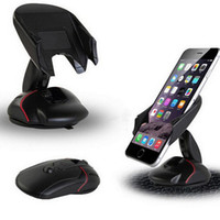 держатели для чашек держатели gps оптовых-Универсальный автомобильный держатель для телефона с креплением на лобовое стекло для мыши на подставке с кнопкой быстрого выпуска