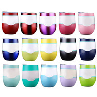 Wholesale Coat Business - Tumbler Cups 20 Colors 9Oz Cup Coated Wine Glass Stainless Steel Tumbler Vacuum Insulated Beer Mugs Egg Cups