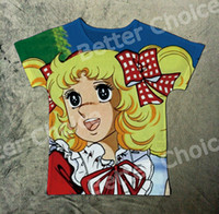 Wholesale picture tees - Track Ship+New Vintage Retro T-shirt Top Tee Sweet Picture Candy Candy Blonde Hair Young Girl 1390
