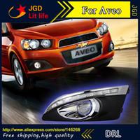 Wholesale Aveo Fog - Free shipping ! 12V 6000k LED DRL Daytime running light for Chevrolet Aveo fog lamp frame Fog light