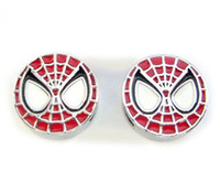 Wholesale Spiderman Charms - Internal Dia. 8MM Enamel Spiderman Slide Charm DIY Alloy Accessories Fit For Phone Strips Leather Wristband Necklace