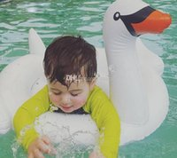 Wholesale Baby Kids Safety Inflatable Swim Ring Swimsuit Swimming Pool Floating Bar Coasters Floatation Beach Life Vest Buoy Flamingos Swan Pattern
