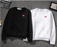 Wholesale Hoody Women Coat - Top Quality Autumn Winter new red heart Embroidery hoodies men women hoodie sweatshirt streetwear hip hop hoody sweat homme play coat