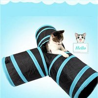 Wholesale Tents For Dogs - Funny Y Shape Collapsible 3 Ways Play Toy Pet Foldable Prosper Pet Cat Folding Training Tunnel Tent Nest Toys for Rabbits Kittens and Dogs