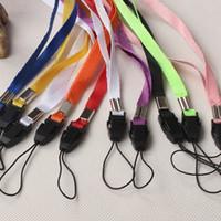 hang phone strap großhandel-NEUE Lanyards Umhängeband Für ID Pass Karte Badge Gym Schlüssel / Handy USB Halter DIY Hängen Seil Lariat Lanyard 100 STÜCKE