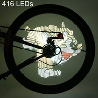 FT - 801 Pro DIY Bicycle Cycling 416 LED Waterproof Colorful Changing Video Pictures Bike Wheel Spoke Light pour Night Cycling + B