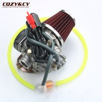 Wholesale Cooler Atv - GY6 50cc 100cc 20mm Big Bore Carb Carburetor +The modified air filter+ 80-100 # is suitable for 139QMB 139QMA Scooter Moped ATV