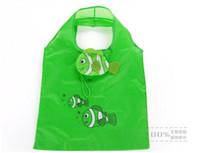 Wholesale handbags online for sale - mini cartoon shopping bag mini fish printed tote bag nylon eco friendly bags handbags online shopping