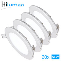 Wholesale 20pcs Ultra thin Round LED panel w w w w w w w LED ceiling down lights K K LED down lights