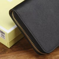 Wholesale Grain Photos - Fashion single zipper long wallet Europe and the high quality of cross grain women brand wallet High quality free shipping