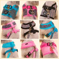 Wholesale Pet Apparel For Large Dogs - Hipidog Soft Adjustable Harness leash Apparel for Small Dog Puppy Cats Pets Supplies Pink Blue Black