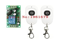 Wholesale Switching 12 V - Wholesale-DC 12 V 1ch RF 315mhz wireless remote control switch 1 X receiver &2 X transmitter with one button