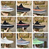 Wholesale Shoes Fitness - With Box Yeezy Boost 350 V2 Cream White Zebra Core Black Red Bred Beluga Gray Women And Men Yeezys Shoes Eur 36-46