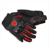 Wholesale Revit Xl - New Style For Ducati REVIT motorcycle Genuine Leather gloves motorbike Off-Road glove Professional protective gear gloves luva