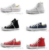 Wholesale Cheap Black High Top Shoes - Credible Conver Chuck Tay Lor Shoes For Men Women Sneakers Run Sport Casual Low High Top Classic Skateboarding Canvas Cheap