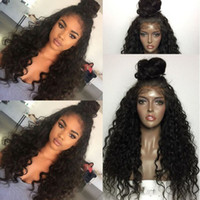Wholesale European Remy Wigs - Best Brazilian Indian Deep Curl Remy Virgin Hair Lace Front Human Hair Wigs for Black Women Greatremy Factory Outlet Full Lace Natural Hair