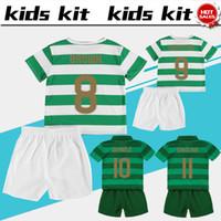 Wholesale Multi Kit - SINCLAIR soccer Jersey Kids Kit 17 18 DEMBELE home green boy Soccer Jerseys 2018 BROWN GRIFFITHS Child Soccer Shirts uniform jersey+shorts