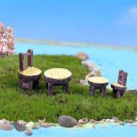 ingrosso gnomi da giardino-2pcs / lot sedia da scrivania in resina fai da te in resina decorazione artigianale da giardino in miniatura micro gnomo terrario regalo